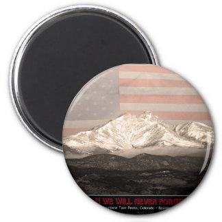 9-11 American Twin Peaks Tribute 2 Inch Round Magnet