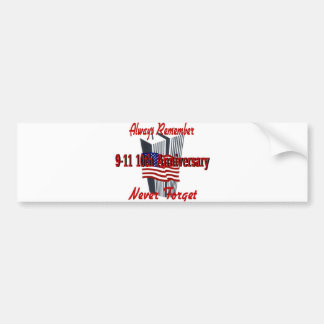 9-11 aniversario 10 conmemorativo pegatina para auto