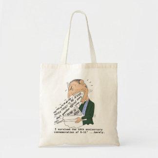 9/11 anniversary commemoration funny design tote bag