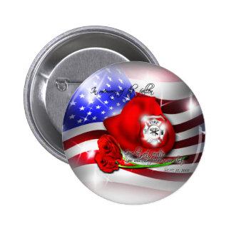 9/11 botón conmemorativo pin redondo de 2 pulgadas