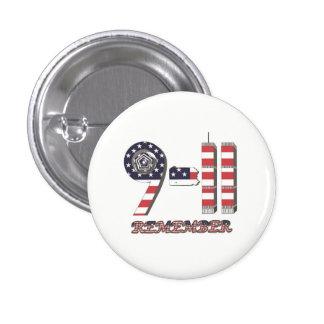 9-11 botón original del modelo de la bandera