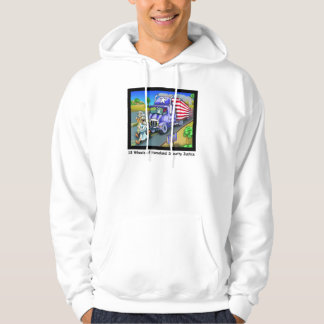 9/11 Commemorative Cartoon 18 Wheeler Hoodie