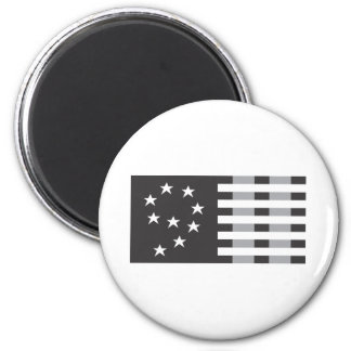 9-11 Commemorative Logo Black and White 2 Inch Round Magnet