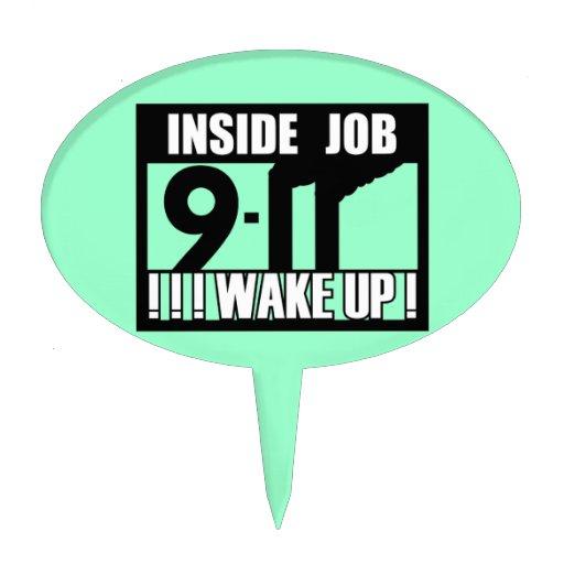 9-11 el TRABAJO INTERIOR DESPIERTA - 911 la verdad Decoración Para Tarta