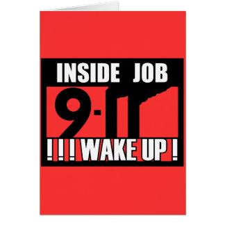 9-11 el TRABAJO INTERIOR DESPIERTA - 911 la verdad Tarjeta De Felicitación