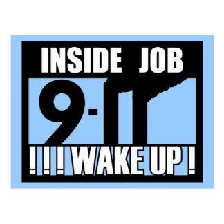 9-11 el TRABAJO INTERIOR DESPIERTA - 911 la verdad Tarjetas Postales