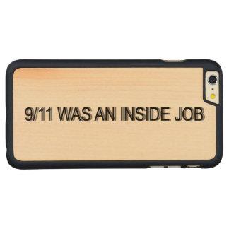 9/11 era un trabajo interior funda de arce carved® para iPhone 6 plus