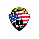 9-11 escudo de la bandera americana del World Postal