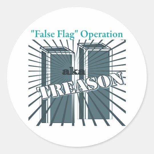 9/11 False Flag Op Classic Round Sticker