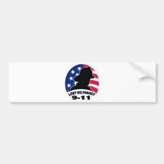 9-11 fireman firefighter american flag bumper sticker