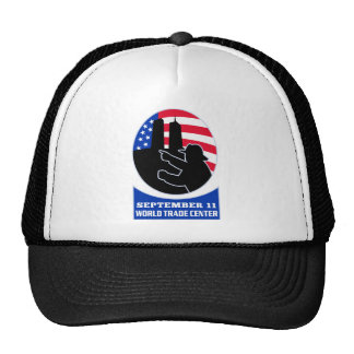 9-11 fireman firefighter american flag twin tower mesh hat