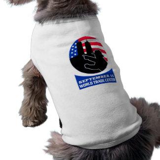 9-11 fireman firefighter american flag twin tower T-Shirt