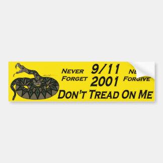 9/11 Gadsden Car Bumper Sticker