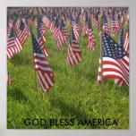 9-11, GOD BLESS AMERICA POSTER