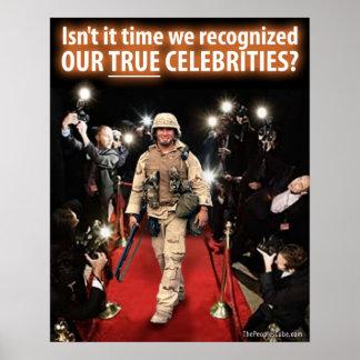 9/11 guerra - celebridades verdaderas: Poster de