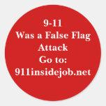 9-11 Inside Job Round Sticker