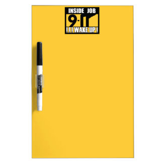 9-11 INSIDE JOB WAKE UP - 911 truth, truther Dry-Erase Board