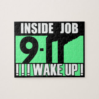 9-11 INSIDE JOB WAKE UP - 911 truth, truther Jigsaw Puzzles