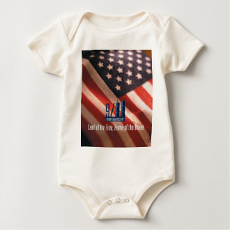 9/11:Land of the Free Home of the Brave Baby Bodysuit
