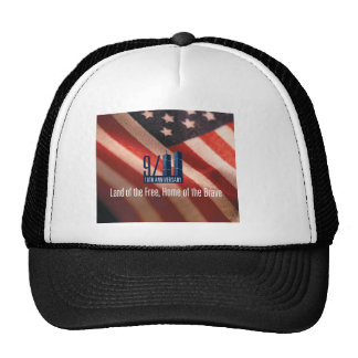 9/11:Land of the Free Home of the Brave Trucker Hat