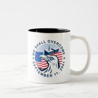 9/11 memorial american eagle flag twin towers mugs