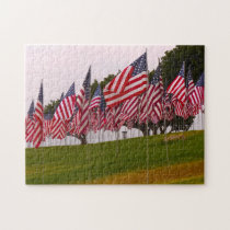 9-11 Memorial Flags. Jigsaw Puzzle