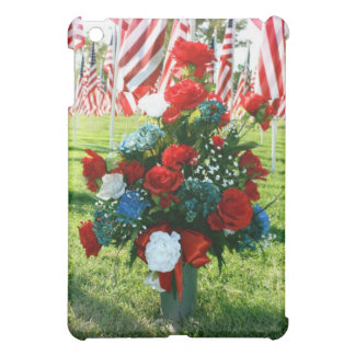 9-11 Memorial Flowers and USA Flags iPad Mini Case