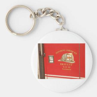 9-11 Memorial Basic Round Button Keychain
