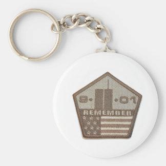 9/11 Memorial Pentagon Patch Basic Round Button Keychain