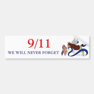 9/11 Memorial Ribbon, Ethnic Angel Car Bumper Sticker