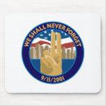 9/11 Memorial Symbol Mouse Pad
