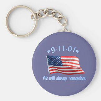 9-11 Memorial We Will Always Remember Keychains