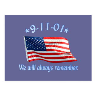 9-11 Memorial We Will Always Remember Post Cards