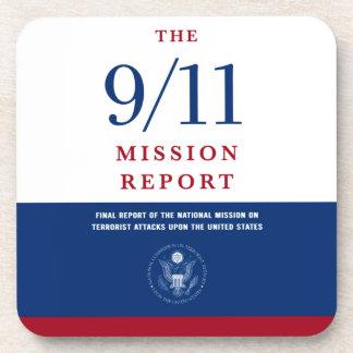 9/11 misión posavasos de bebida