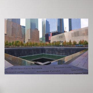 9-11 monumento de WTC Póster