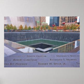 9-11 monumento del punto cero poster