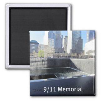 9/11 monumento imán cuadrado