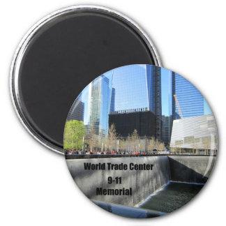 9-11 monumento imán redondo 5 cm