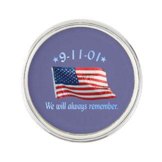 9-11 monumento que recordaremos siempre insignia