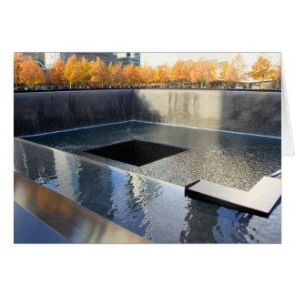 9/11 monumento tarjeta de felicitación