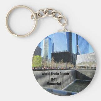 9/11 monumento, World Trade Center, New York City Llavero Redondo Tipo Pin