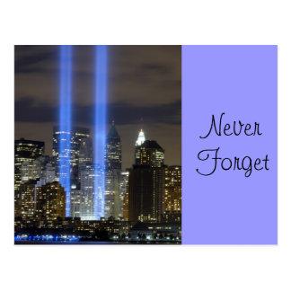 9 11 Never Forget, Always Remember Postcard