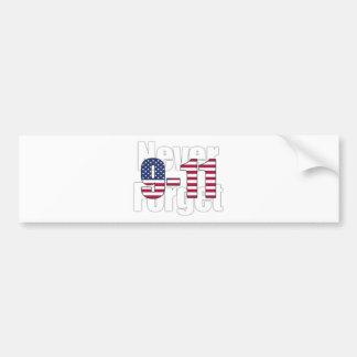 9-11 Never Forget Bumper Sticker