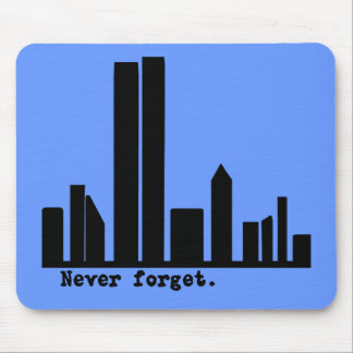 9-11 Never Forget NY Skyline Tshirts, Buttons Mouse Pad