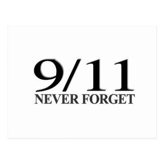 9/11 Never Forget Postcards