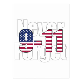 9-11 Never Forget Postcards
