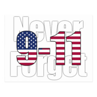 9-11 Never Forget Post Cards