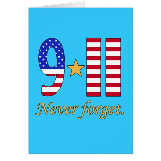 9-11 Never Forget Products Card