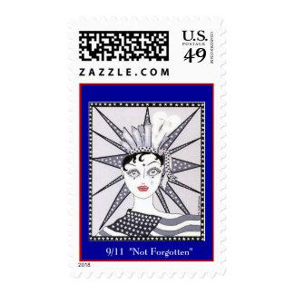"9/11""Not Forgotten""   (blue bk ground) Stamps"