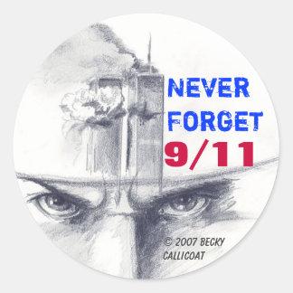"9/11"" nunca olvida"" al pegatina"